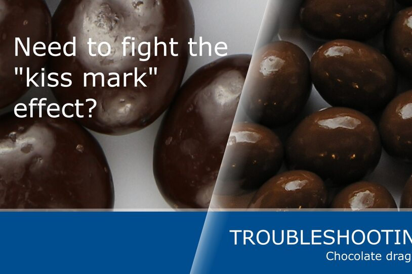 "How to avoid the ""kiss mark"" effect on chocolate dragées"