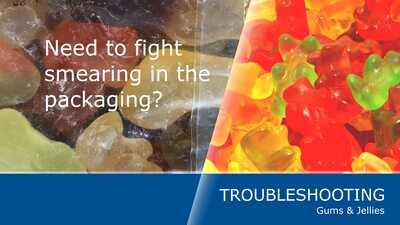 How to prevent smearing in the packaging of gums and jellies