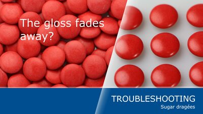 How to avoid fading of gloss with your sugar dragées